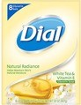 Dial Bar Natural Radiance WhiteTea and Vitamin E Glycerin Soap, 8ct