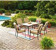 Mainstays Crossman 7-Piece Outdoor Tan Dining Set, Seats 6