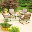 Mainstays Lawson Ridge 5 Piece Outdoor Conversation Set, Tan