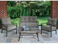 Outdoor Patio Chancery Slat Back Stone 4-pc. Conversation Set